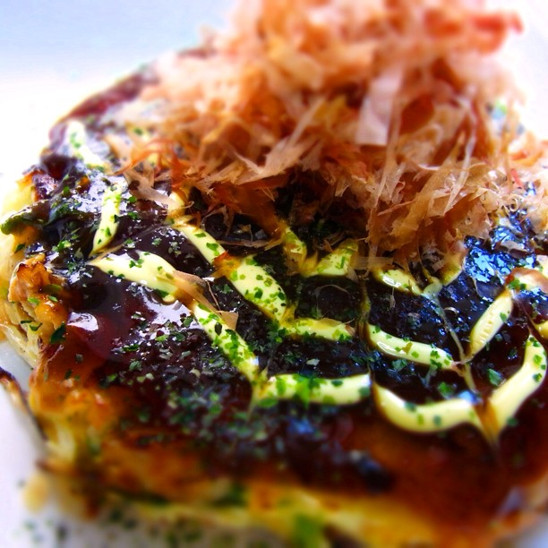 Okonomiyaki (พิซซ่าญี่ปุ่น)